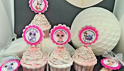 Littlest Pet Shop Party personalized birthday supplies cupcake topper