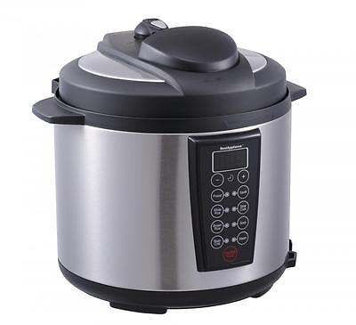 Iniquitous 1000-Watt 6-Quart Electric Pressure Cooker Brushed Stainless and Matte 603