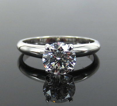 GIA Certified 1.01ct Ideal Cut F-VVS1 Diamond & 18K White Gold Solitaire Ring 3