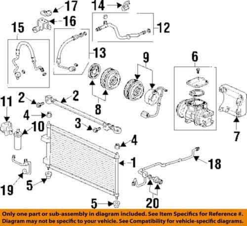 Acura 80311-SS8-A02 A//C Refrigerant Suction Hose