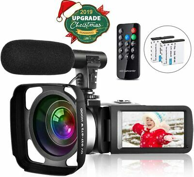 Video Camera Camcorder Vlogging Camera for Youtube Full HD 2.7K 30FPS 30 MP IR N