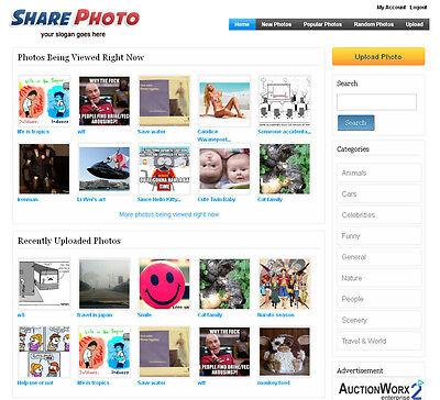 Photo Sharing Website - Adsense Ready