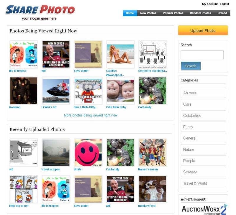 Photo Sharing Website - Free Installation + Hosting