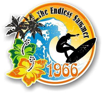 Aged Retro Surf board Surfing ENDLESS SUMMER 1966 Car Camper van sticker decal