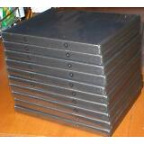 Set of 10 Empty, Clean, Standard-Thickness, Black DVD Cases w Wrap-Around Sleeve