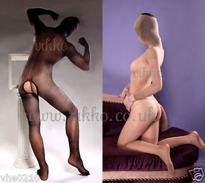 Unisex-Full-Cover-Long-Sleeve-Open-Crotch-Bodystocking