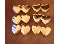 6 gold heart balloon weights