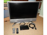 """SHARP LCD 32"""" screen TV with Icecrypt Freeview Receiver (Not HD)"""