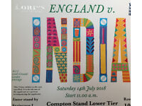 INDIA vs ENGLAND ODI at LORDS 14 July 2018 - SINGLE Ticket Compton Stand