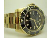 Rolex Submariner 116619LN Full Gold Black Dial Ceramic Bezel