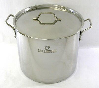 52 qt Quart Stainless Steel Stock Pot Steamer Beer Brewing Kettle Tamale BA76/52