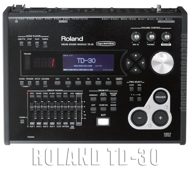 Roland TD-30 V Drums brain electronic module MANUAL latest system version  GREAT drum module   in Brentford, London   Gumtree
