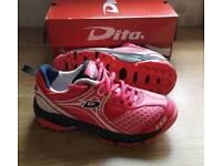 Dita Kids Girls pink hockey shoes trainers RRP £58.99