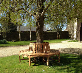 Solid Teak Round Tree Seat Bench - Exlusive Clearance Offer