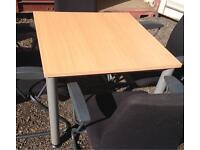 3 X square tables. 80 X 80cm. Delivery.