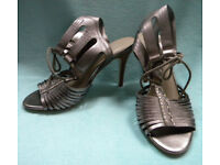 M&S AUTOGRAPH Insolia Gold / Bronze Leather Shoe / Sandals Heels UK SIZE 3 *BRAND NEW WITHOUT BOX*
