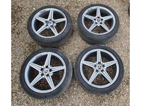 """Genuine Mercedes 18"""" AMG Alloy Wheels C Class W205 W204 A2054011100"""