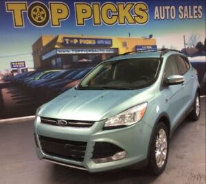 2013 Ford Escape SEL, AWD, LEATHER, NAVIGATION, 2.0 LITER!