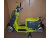 Kids mini Cooper scooter. Battery operated.