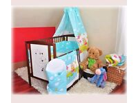 Baby Cot with Mattress Delivery Available