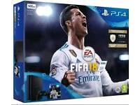 Sony PlayStation 4 PS4 500GB Slim FIFA 18 Console Bundle - Black NEW * Sealed