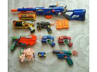 A selection of nerf guns