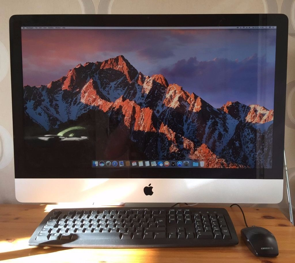 "Apple iMac Desktop 27"" 1TB Hard Drive MacOS SierranewOffice 2016 plus Adobin SwanseaGumtree - Here I have for sale my much loved iMac. It is the 27"" screen, 1Tb Hard Drive, 8GB Memory installed ( 2 free slots to upgrade if needed ) 3.2 GHz Processor, Intel Core i3, and it has the brand new Mac OS Sierra Installed with Siri etc It also has..."