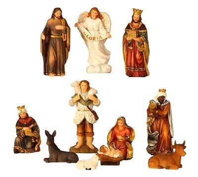 Weihnachten 11 (11 teiliges Set Krippenfiguren Weihnachten Krippe bis 8,5cm Maria Josef Jesus)
