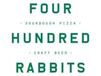 pizza chefs - 400 Rabbits, Crystal Palace - IMMEDIATE START £11 per hour