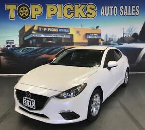 2015 Mazda MAZDA3 GS, AUTOMATIC, ALLOY WHEELS, BACK UP CAM!