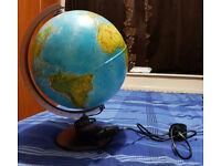 world globe table lamp