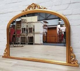 Gilt Framed Over Mantle Mirror (DELIVERY AVAILABLE)