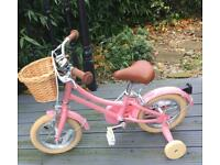 Bobbin pink child's bike