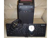 Lenovo ThinkCentre Tower PC Windows 7 Professional 64 Bit 2GB RAM DVD writer