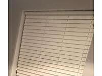 50mm white faux wood blinds x2