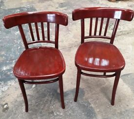 Pair of restored vintage Bentwood chairs
