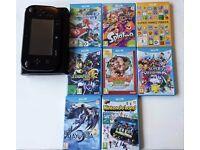 Wii U 32gb Black with 16 games