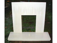 Marble Backplate and Hearth
