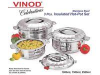 Vinod Indian Hot Pots-3 set