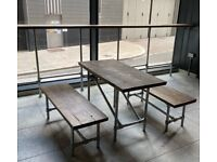 Hand Made Scaffold Table and Benches