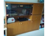 Price Reduced!Like new - Display cabinet for sale , solid wood.