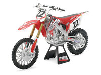 New Ray Die Cast Toy Bike 1:12 Honda CRF Chad Reed TWO TWO Xmas Gift Motocross