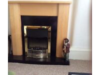 Electric Fire Surround with Built In Electric Fire. £70