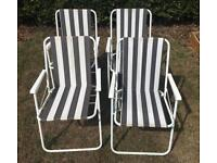 Canvas fold away garden chairs