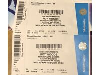 2x Roy Wood$ tickets for the 30th May at Electric Ballroom