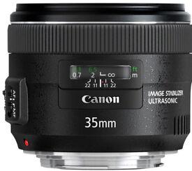 Canon EF 35mm 1:2 IS USM Ultrasonic Image Stabiliser 390 O.N.O