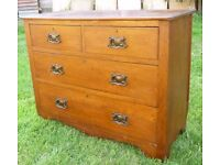 Vintage 1920s 1930s Arts Crafts Chest of Drawers Oak