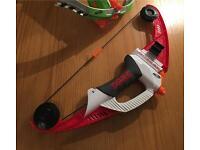 Nerf mega bow and arrow lighting bow