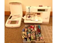 Bernette Deco 500 Embroidery Machine + Bernette Deco-Scanner, pattern discs and other accessories