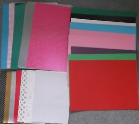 Assortment of craft paper and craft.